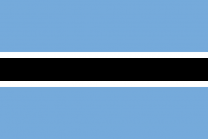 Nationa Flag of Botswana