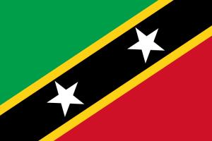 National flag of St Kitts & Nevis