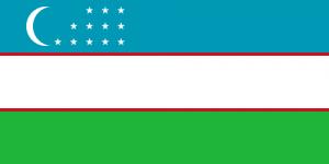 National Flag of Uzbekistan